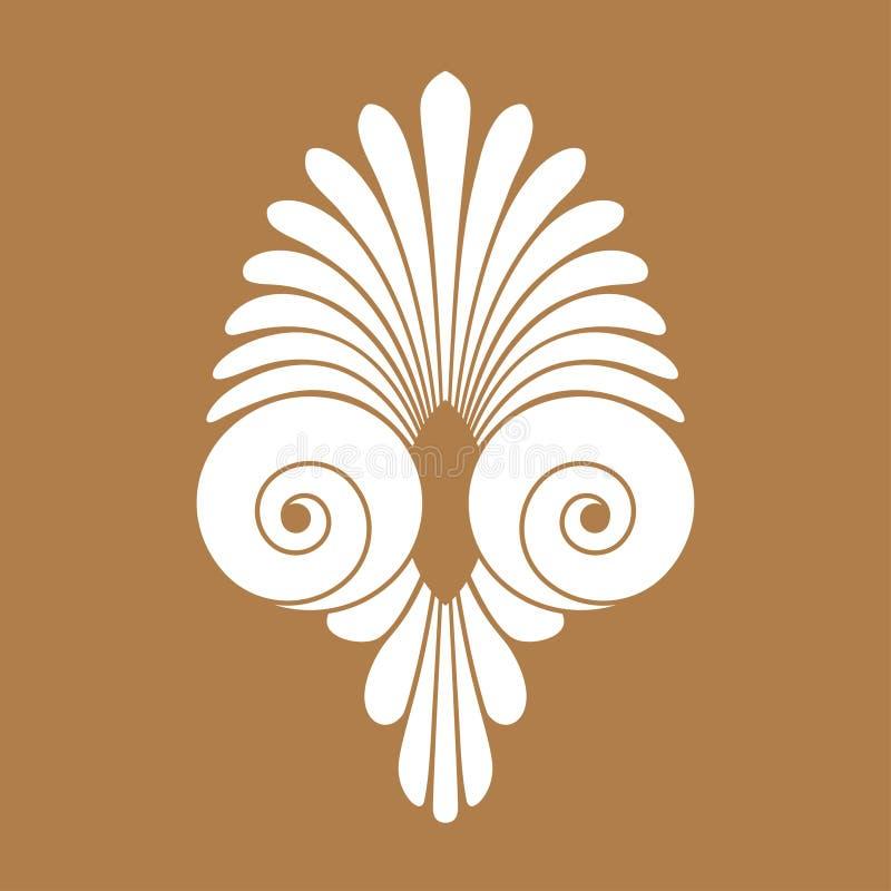 Ornamento griego del remolino antiguo, vector y s?mbolo del ejemplo stock de ilustración