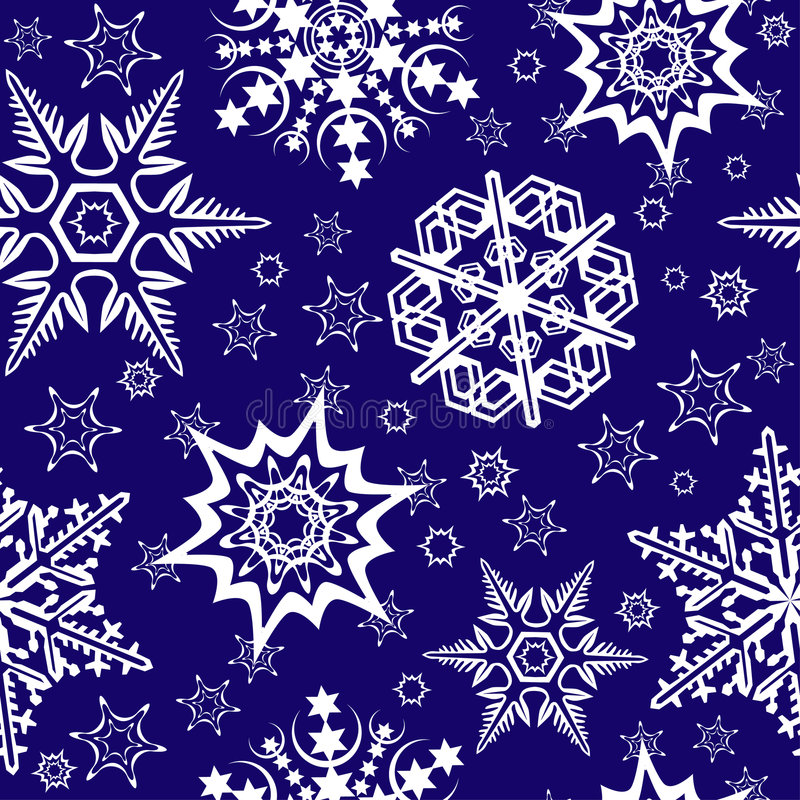 Ornamento inconsútil con los copos de nieve ilustración del vector
