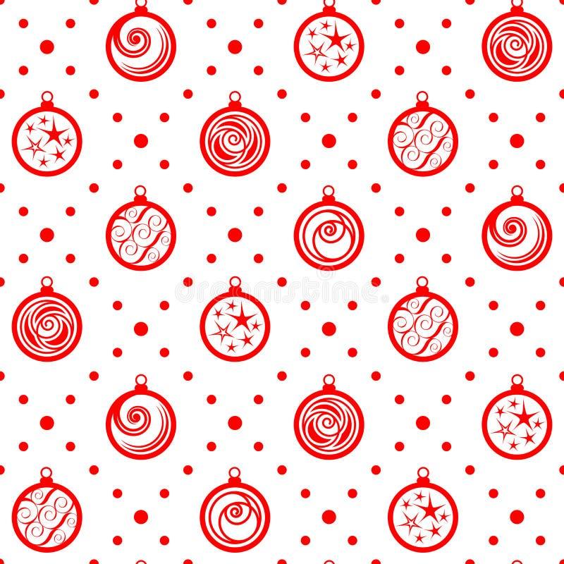Ornamento inconsútil de la Navidad ilustración del vector