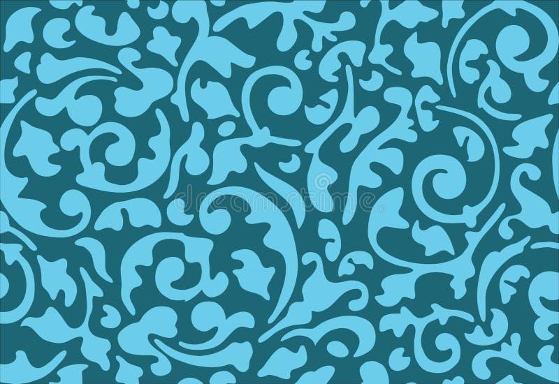 Ornamento inconsútil del azul de la flor stock de ilustración