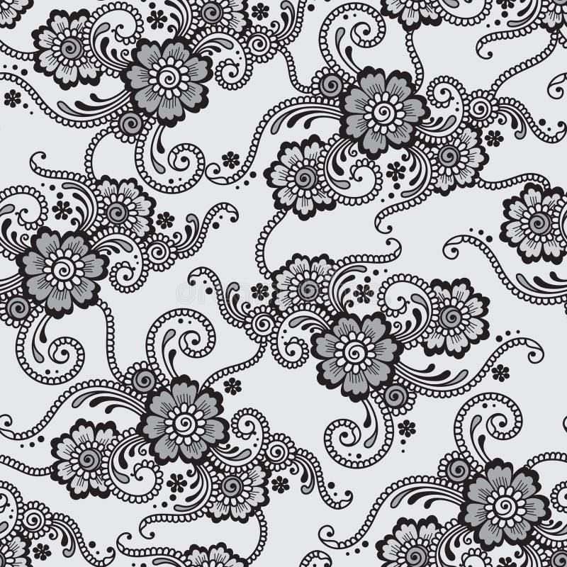 Ornamento inconsútil del vector de la flor stock de ilustración
