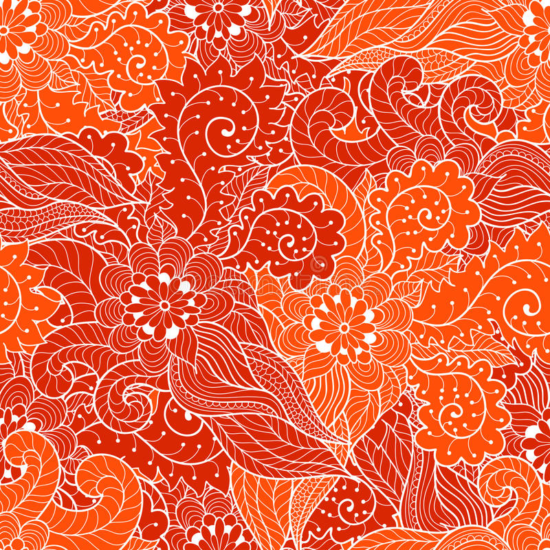 Ornamento inconsútil floral stock de ilustración