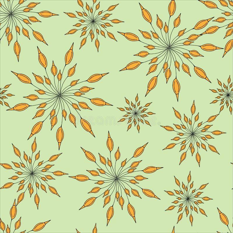 Ornamento inconsútil floral de Brown libre illustration