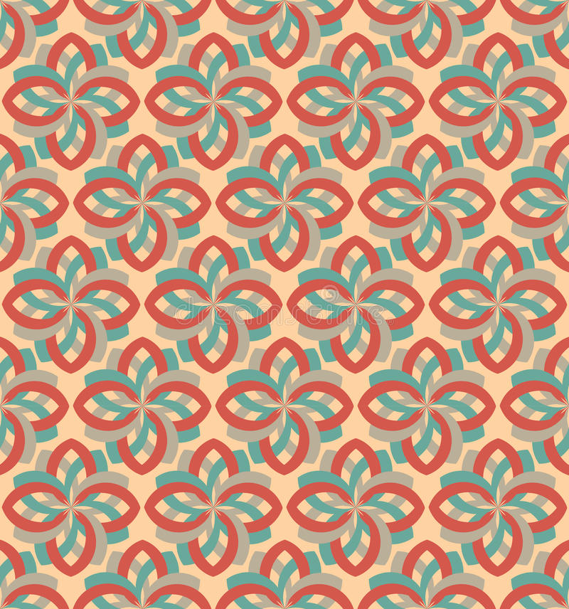 Ornamento inconsútil geométrico del modelo de la flor retra ilustración del vector