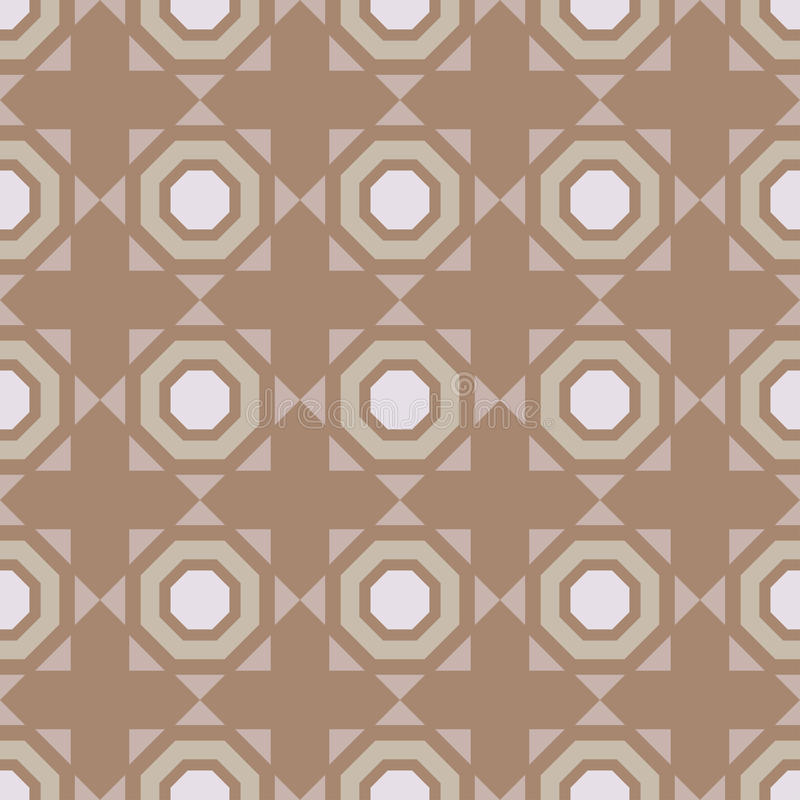 Ornamento inconsútil geométrico Fondo de Brown stock de ilustración