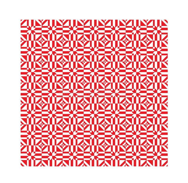 Ornamento inconsútil geométrico moderno étnico rojo del modelo ilustración del vector