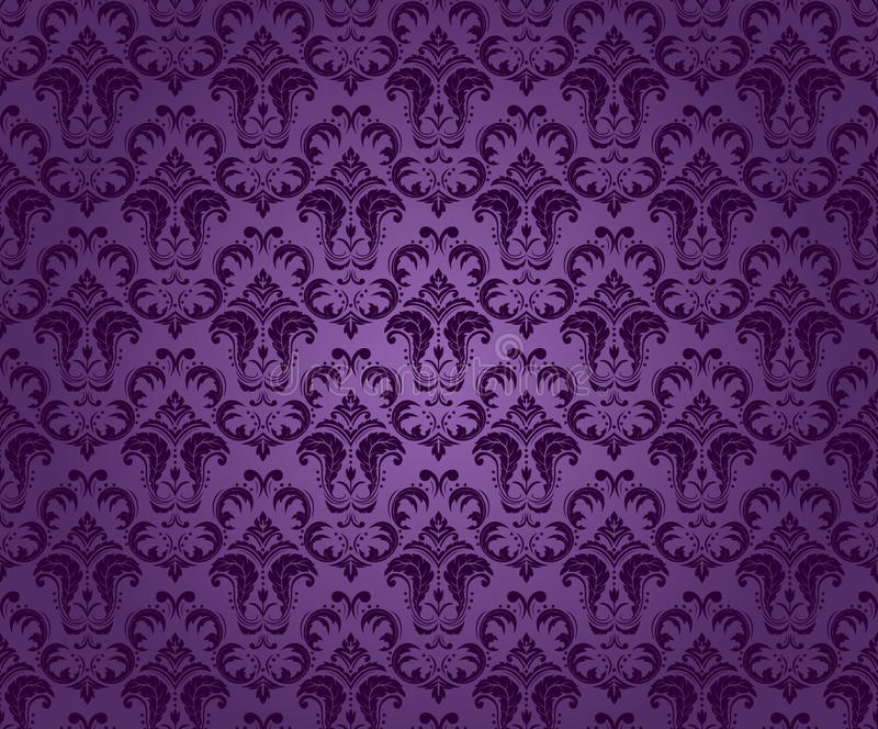 Ornamento inconsútil púrpura libre illustration