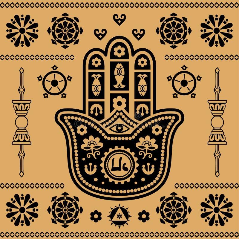 Ornamento indiano ilustração stock