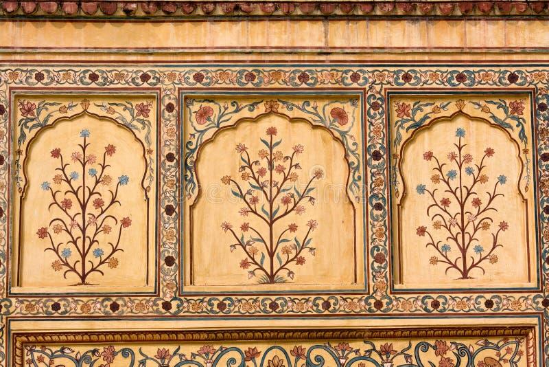 Ornamento indiano sulla parete fotografie stock libere da diritti