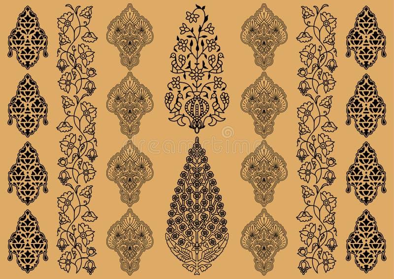 Ornamento indio stock de ilustración