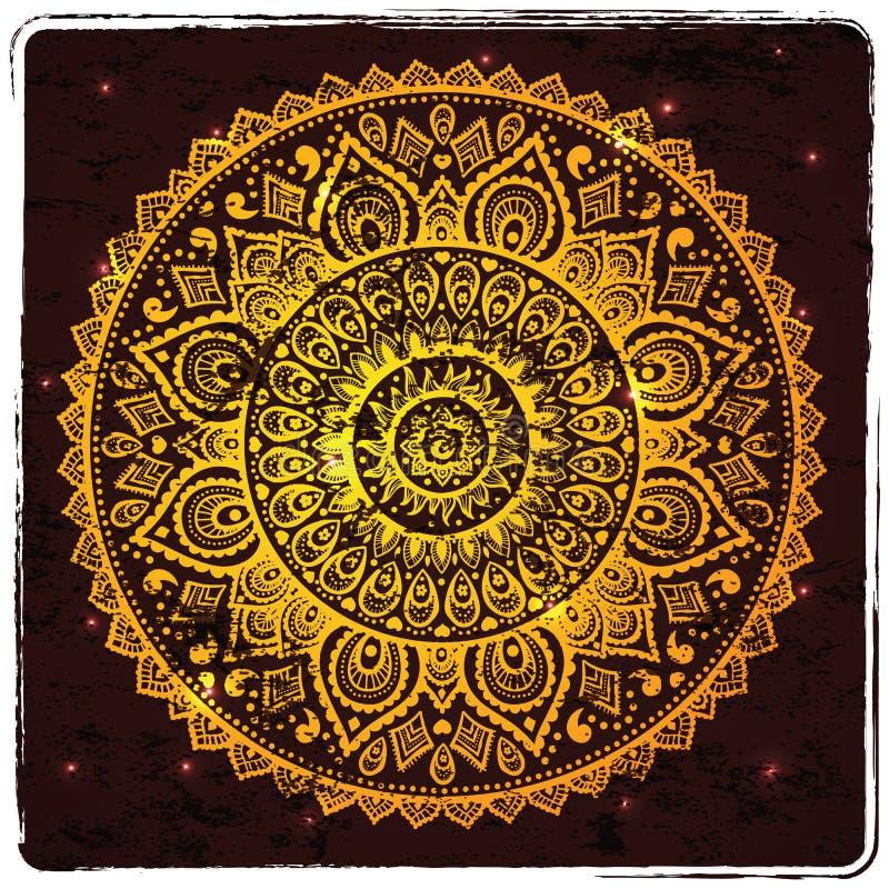 Ornamento indio hermoso stock de ilustración