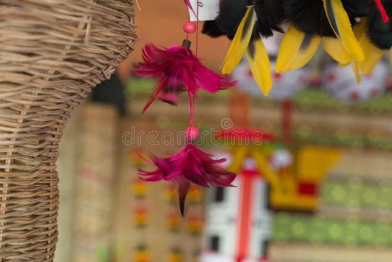 Ornamento indio, rosa, hermoso, plumas, imagenes de archivo