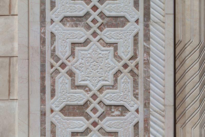 Ornamento islamico di marmo fotografia stock