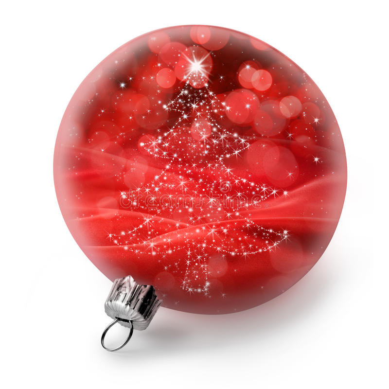 Ornamento isolado da árvore de Natal fotos de stock royalty free
