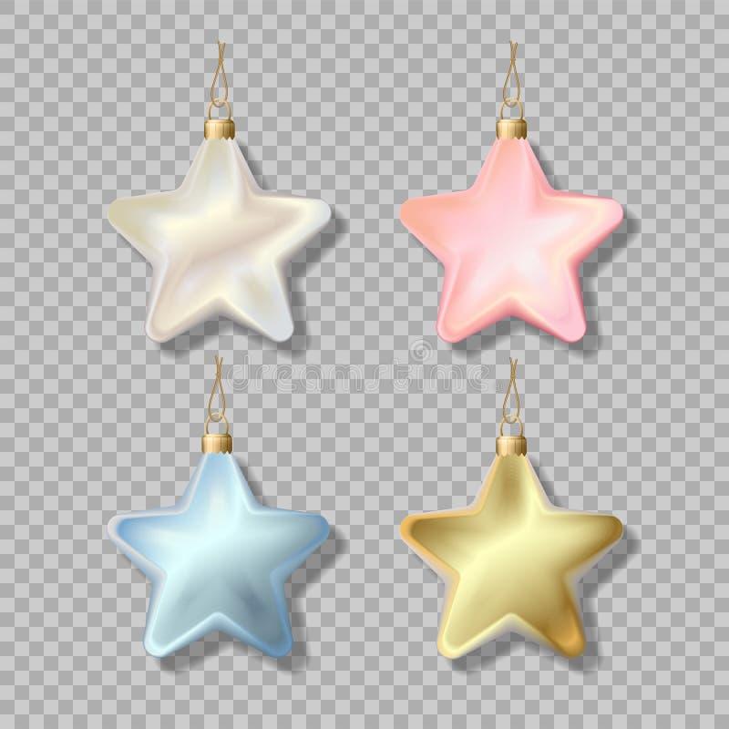 Ornamento isolato stella di Natale illustrazione vettoriale