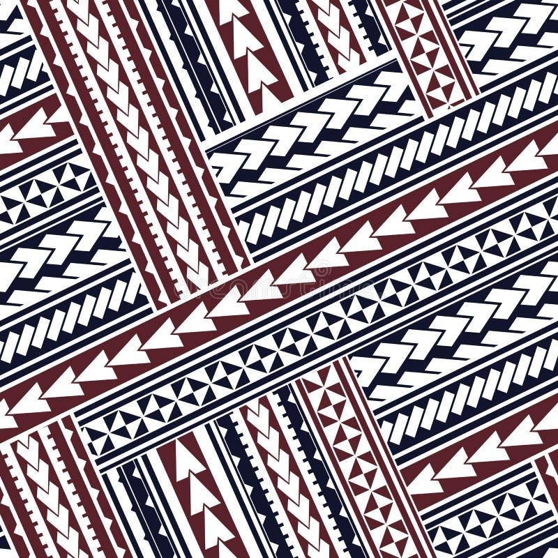 Ornamento maori do estilo ilustração stock