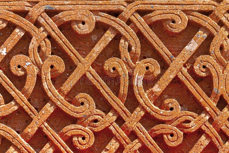 Ornamento medievale armeno sulla pietra immagine stock libera da diritti