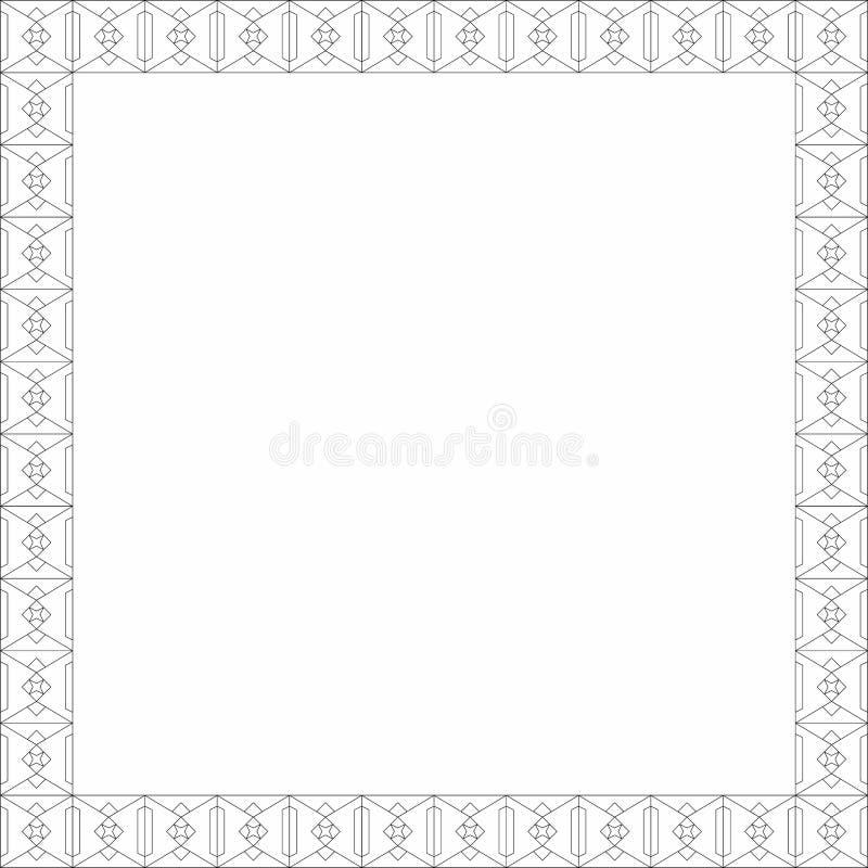 Ornamento mediterrâneo da porta feito pela linha esboços imagens de stock royalty free