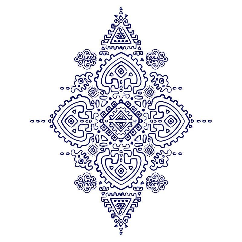 Ornamento mexicano del vector tribal, africano étnico libre illustration