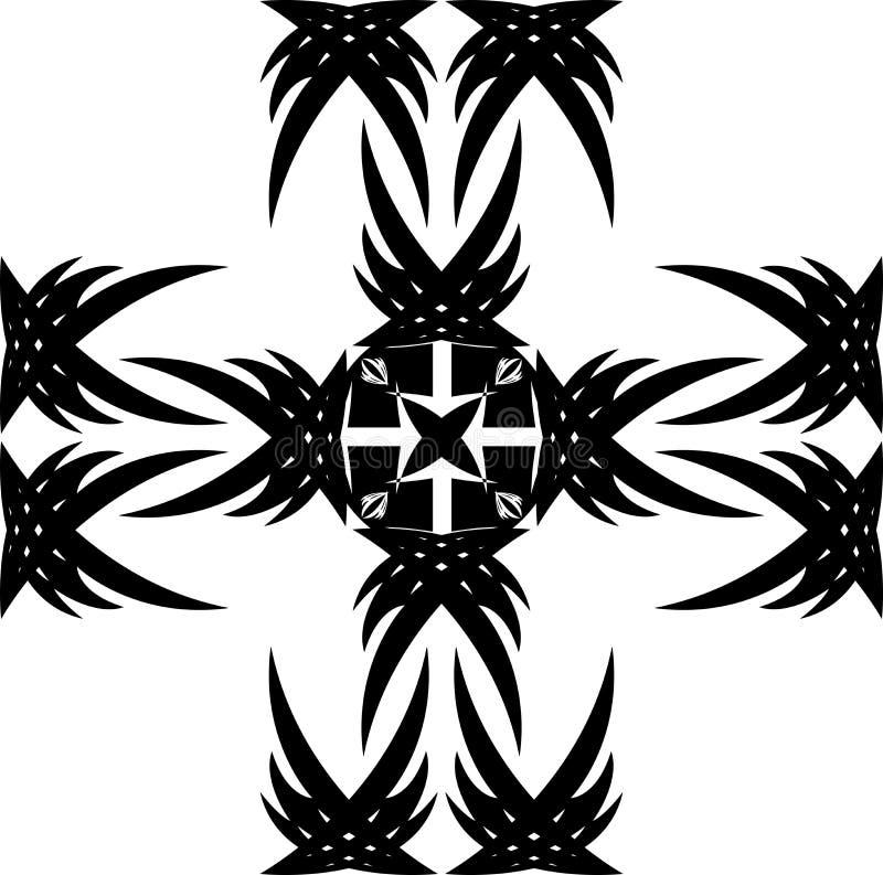 Ornamento negro fotografía de archivo