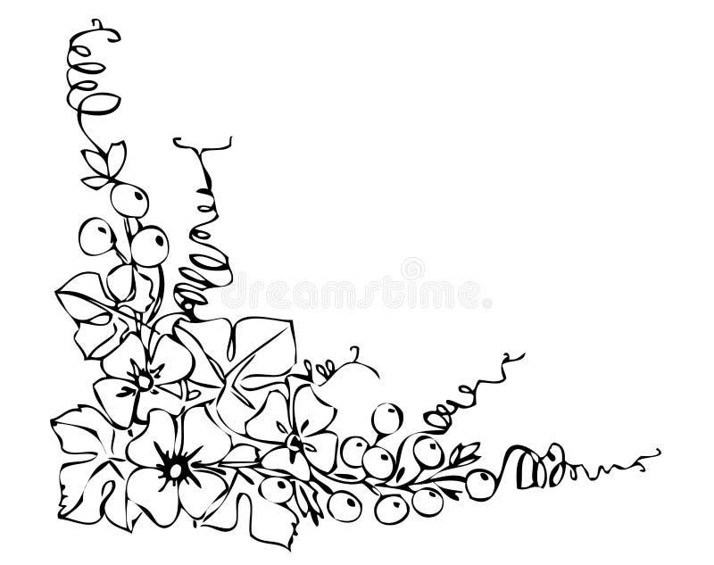 Ornamento negro de la flor stock de ilustración
