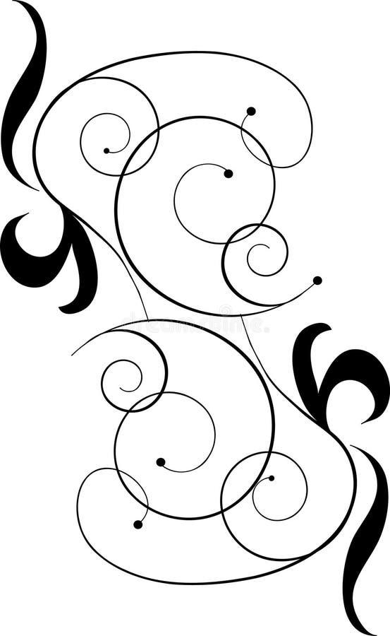 Download Ornamento nero di disegno illustrazione vettoriale. Illustrazione di prodotto - 7321247