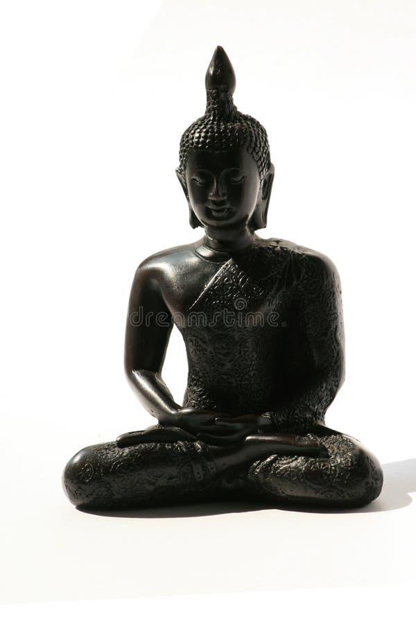 Ornamento nero su bianco, Tailandia del Buddha. immagini stock libere da diritti