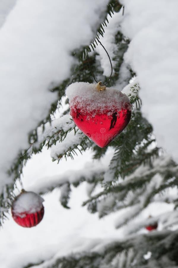 Ornamento nevado do Natal imagem de stock