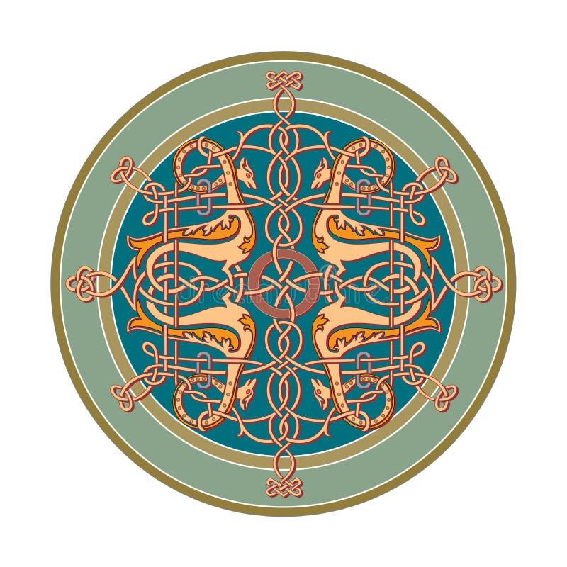 Ornamento oriental céltico ruso - diseños del ejemplo libre illustration