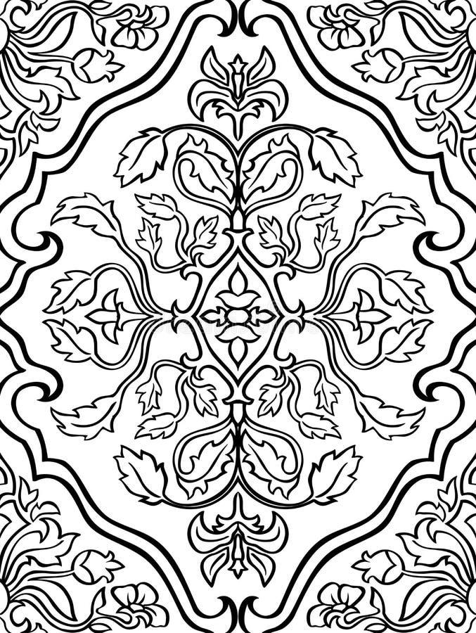 Ornamento oriental, floral ilustração do vetor
