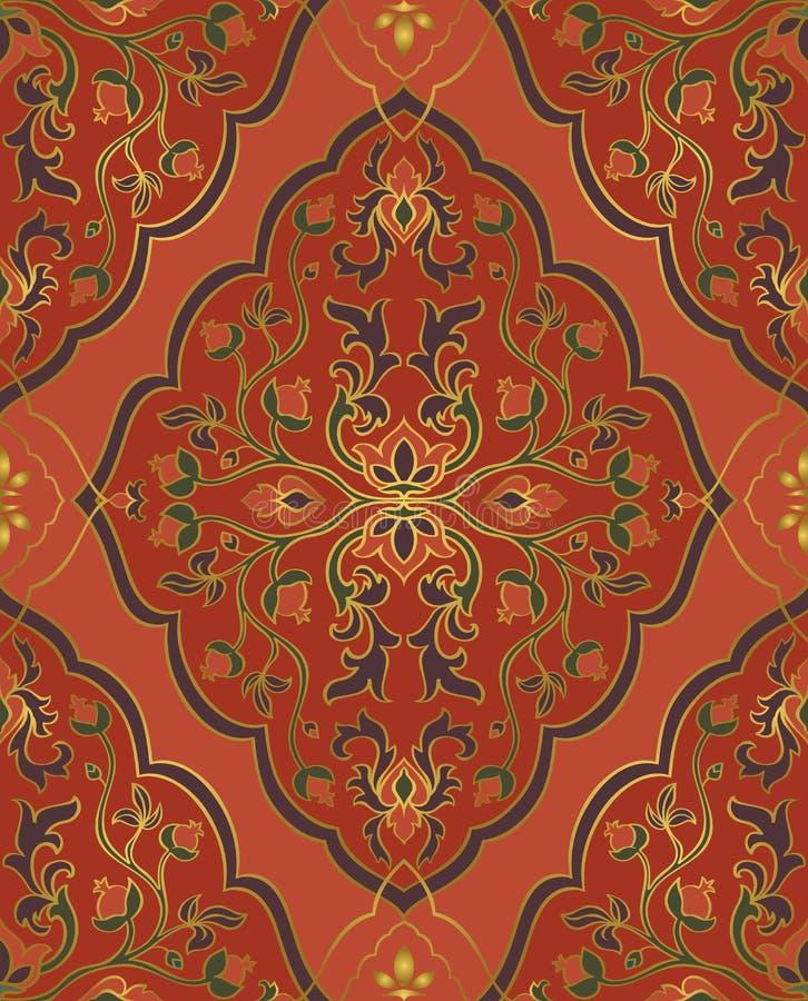 Ornamento oriental vermelho ilustração stock