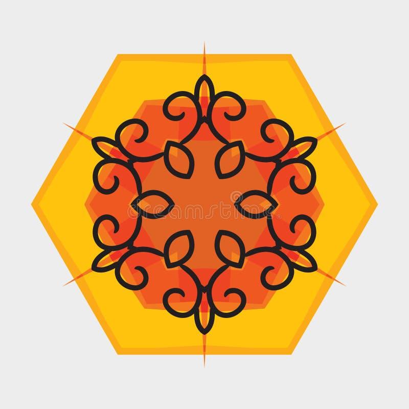 Ornamento orientale del fiore di vettore royalty illustrazione gratis