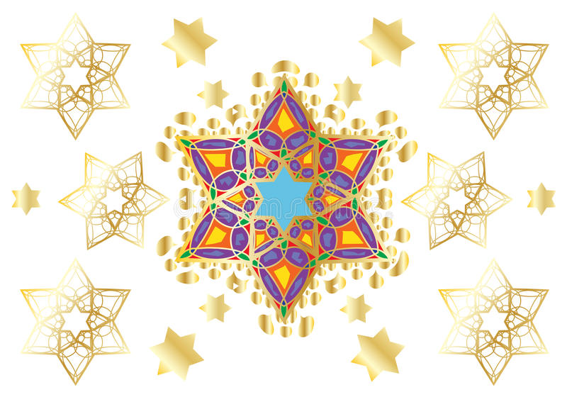 Ornamento orientale festivo illustrazione di stock