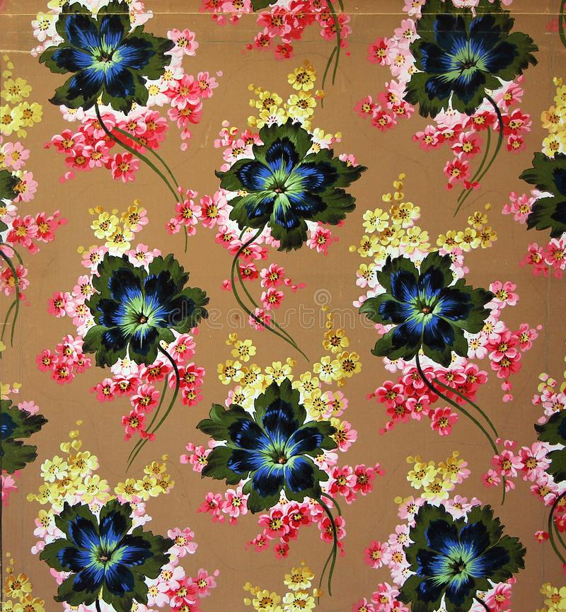 Ornamento original da tela de matéria têxtil A vasilha de barro é pintado à mão com guache ilustração do vetor