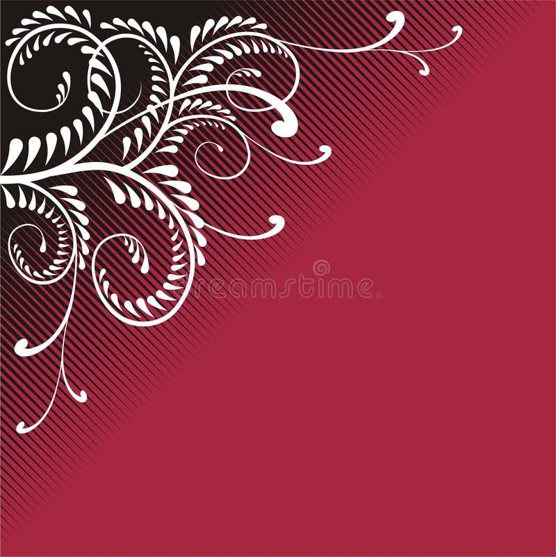 Ornamento ostentoso del vino rojo libre illustration