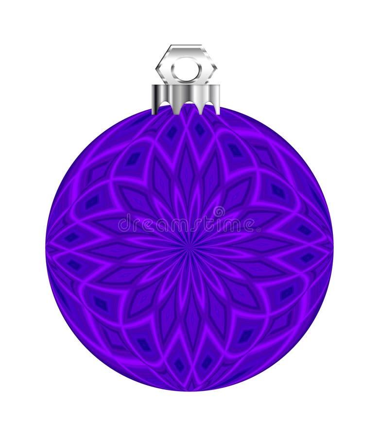 Ornamento púrpura de la bola stock de ilustración