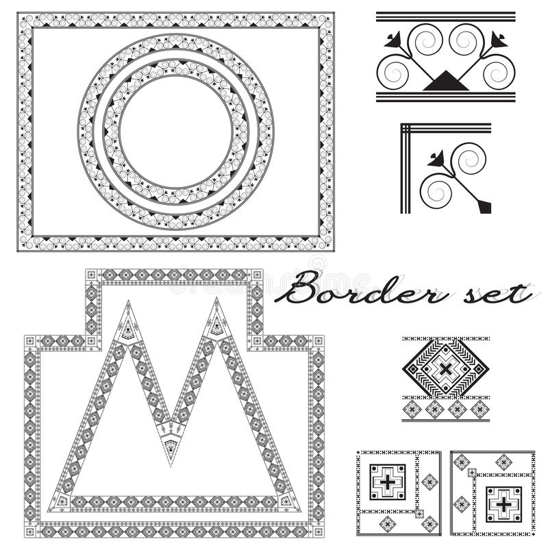 Ornamento para criar beiras e quadros ilustração stock