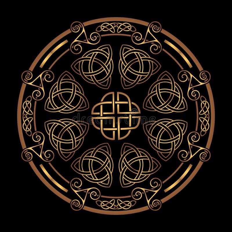 Ornamento popular céltico ilustración del vector