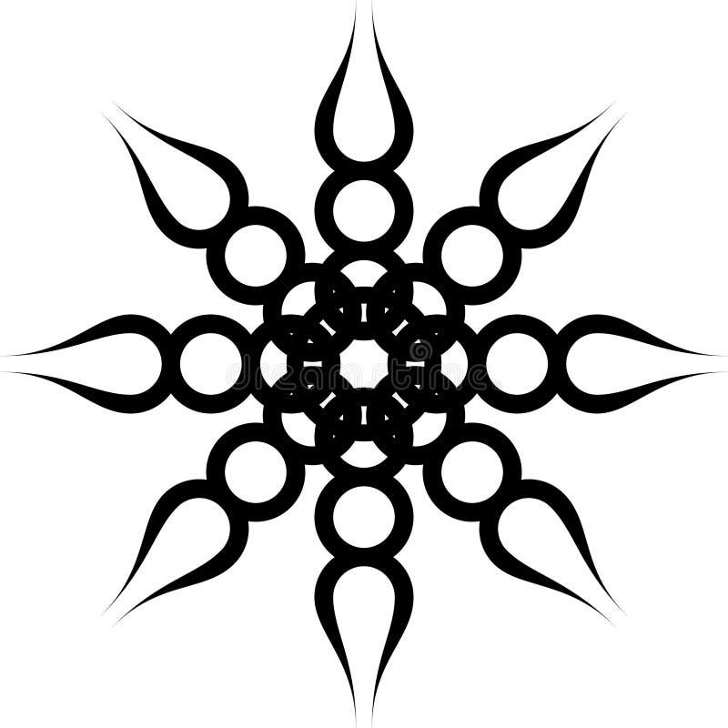 Ornamento preto da torção ilustração do vetor