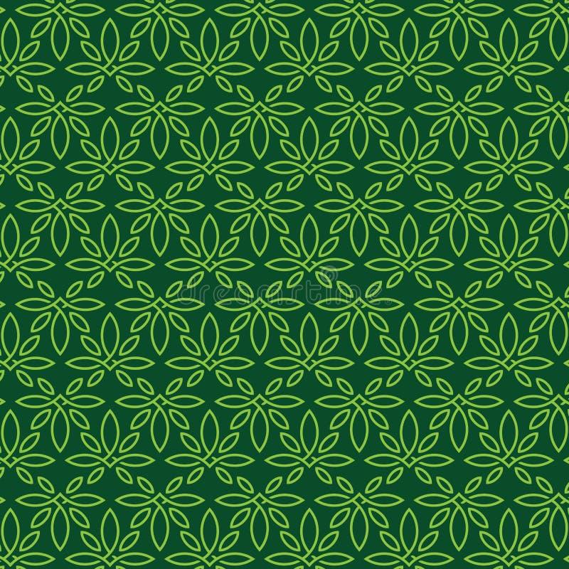 Ornamento profissional moderno do teste padrão no tema do cannabis ilustração royalty free