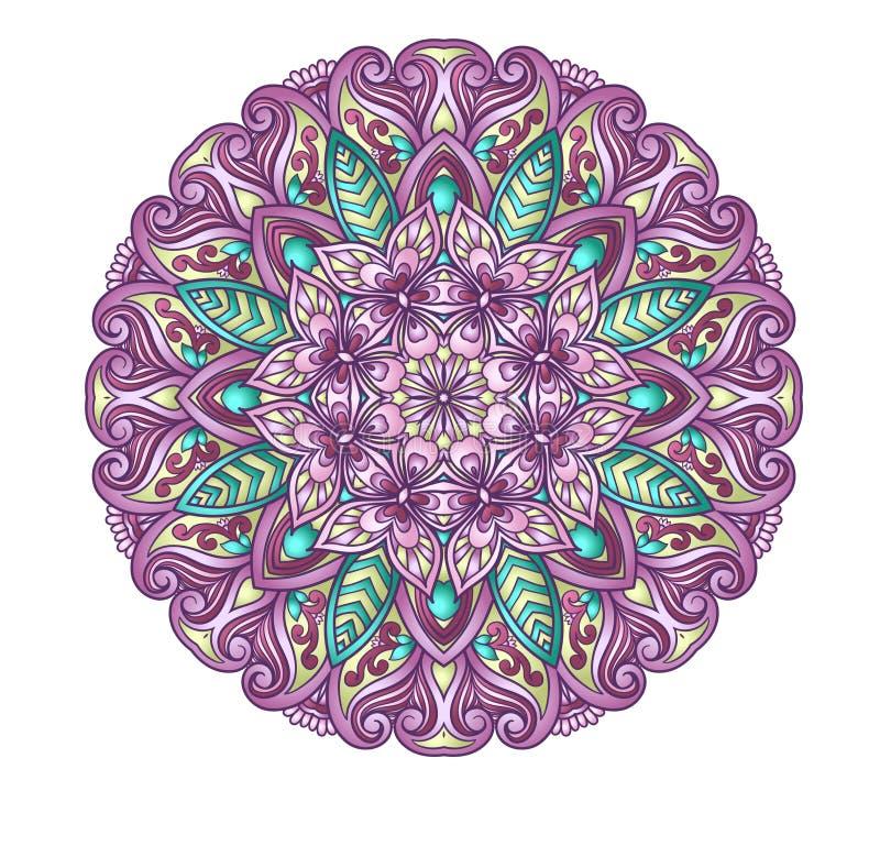 Ornamento redondo stock de ilustración