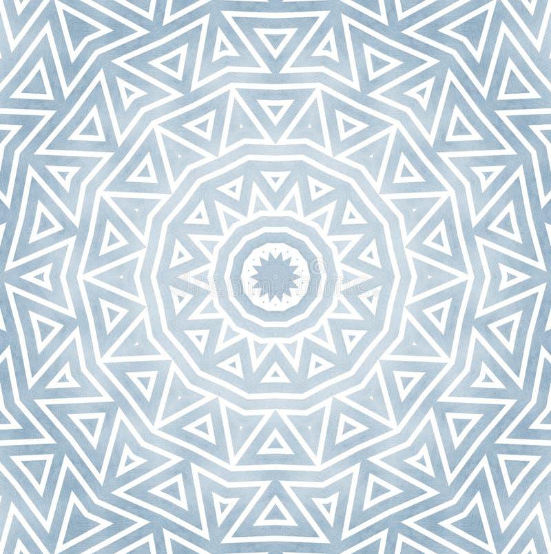 Ornamento redondo detallado del estilo de Oriente stock de ilustración
