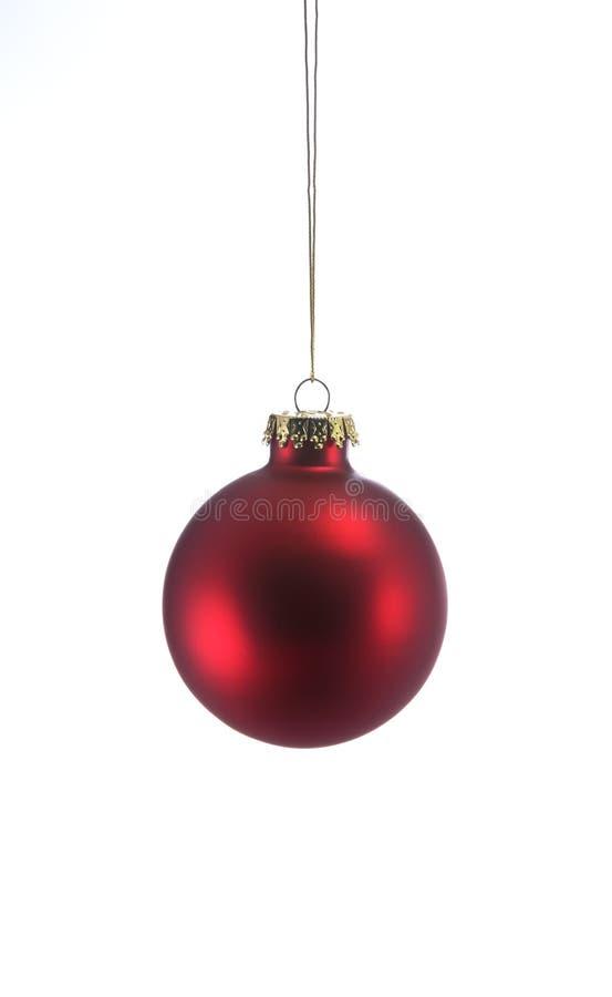 Ornamento rojo de la Navidad foto de archivo libre de regalías