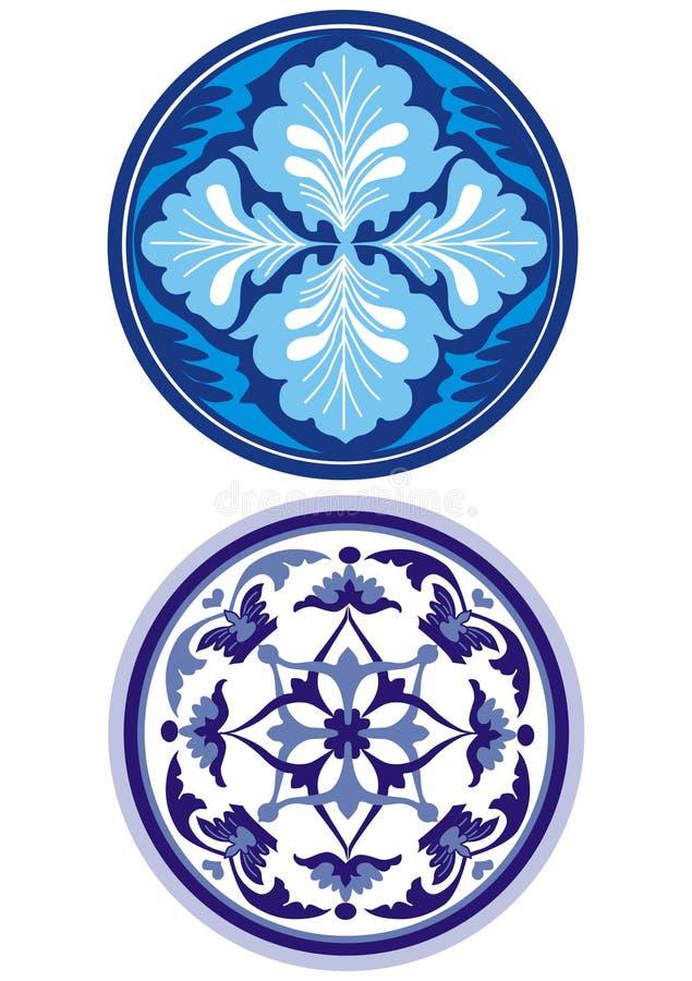 Ornamento russo dell'azzurro di stile royalty illustrazione gratis