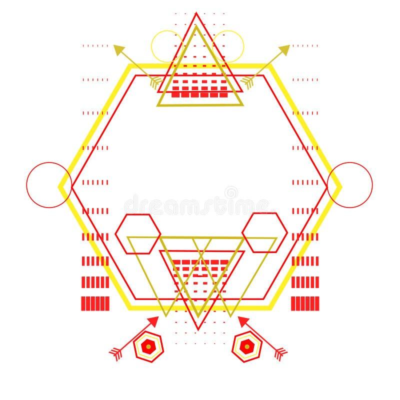 Ornamento sagrado de la geometría ilustración del vector