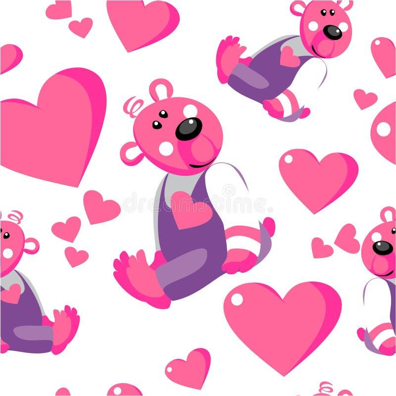 Ornamento sem emenda 67 do urso do emo ilustração stock