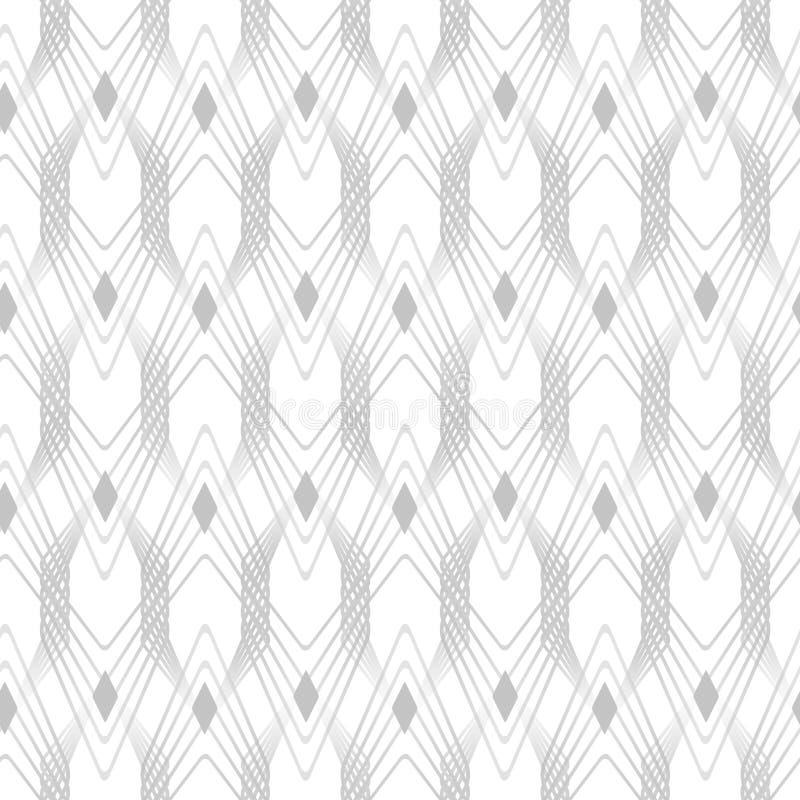 Ornamento sem emenda do gráfico do teste padrão do art deco Fundo à moda abstrato ilustração stock