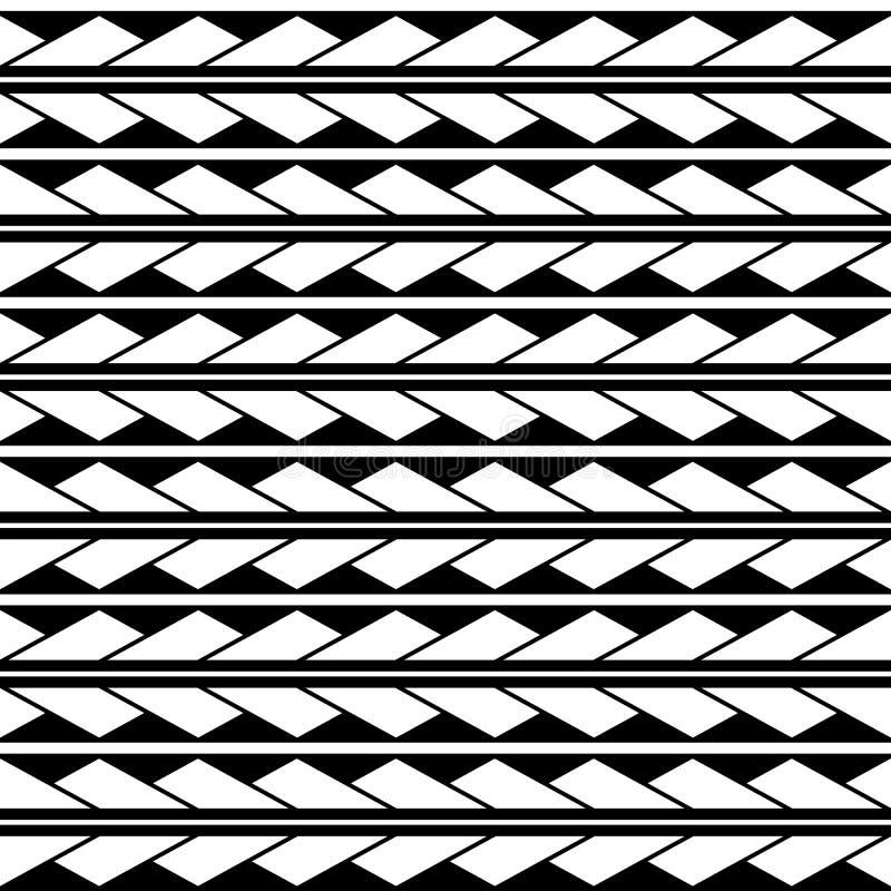 Ornamento sem emenda do teste padrão do rombo dos triângulos do vetor maori, étnico, estilo de japão Textura moderna do estilo ilustração royalty free