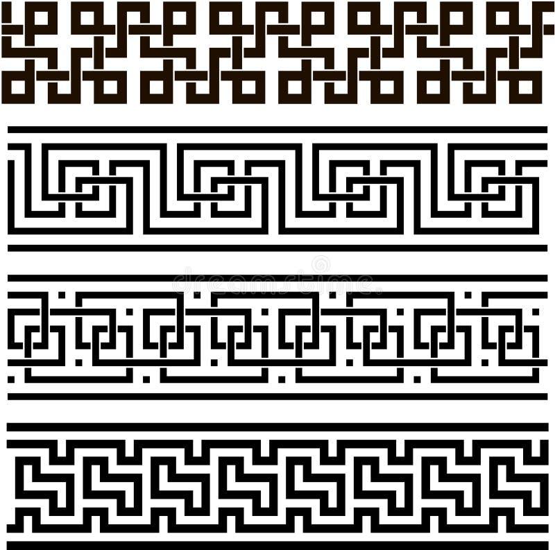 Ornamento sem emenda grego ilustração royalty free