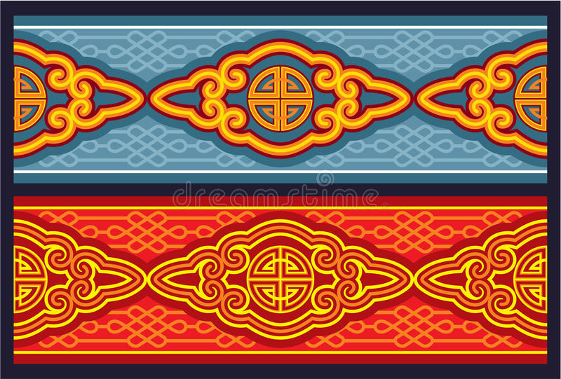 Ornamento sem emenda oriental da beira ilustração royalty free